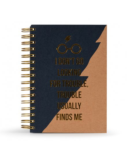 Carnet Bloc Notes A5 Harry Potter Trouble Usually Finds Me