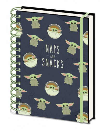 Carnet Bloc Notes Star Wars The Mandalorian Naps and Snacks