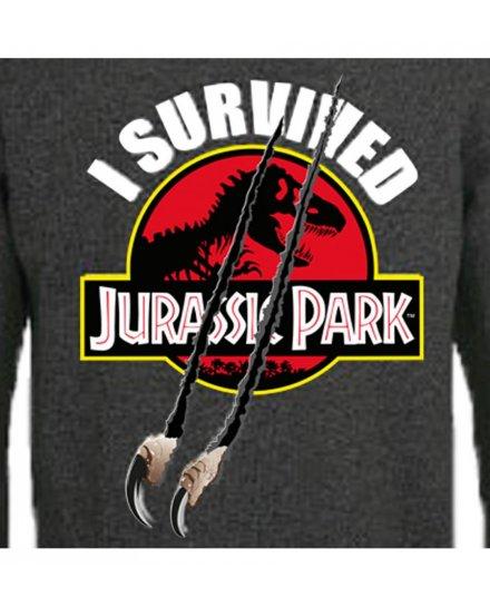Sweat à capuche Jurassic Park I survived