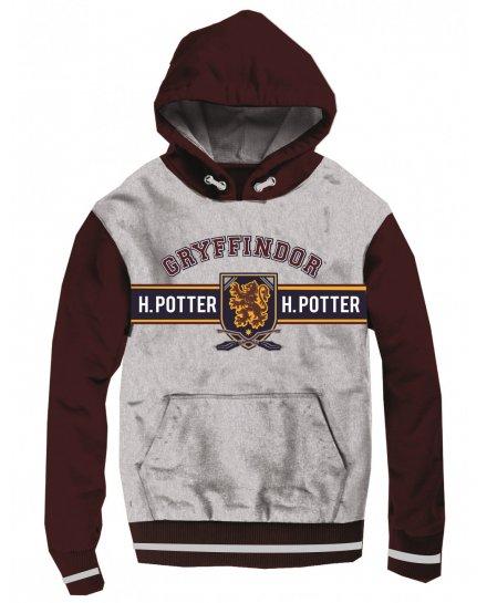 Sweat enfant Harry Potter Gryffondor bordeaux et gris