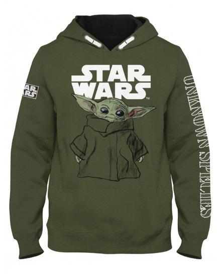 Sweat enfant Star Wars kaki Baby Yoda Mandalorian