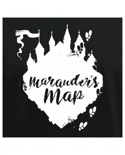 Sweat femme Harry Potter noir et blanc Marauder's map
