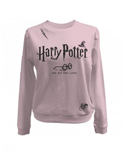 Sweat Harry Potter femme rose The boy who lived
