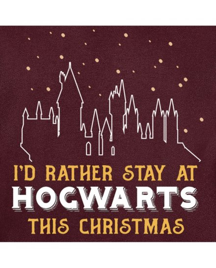 Sweat Harry Potter I'd rather stay at hogwarts