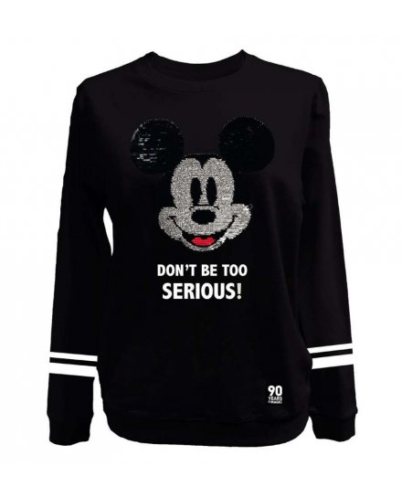 Sweat Mickey femme don't be too serious DISNEY
