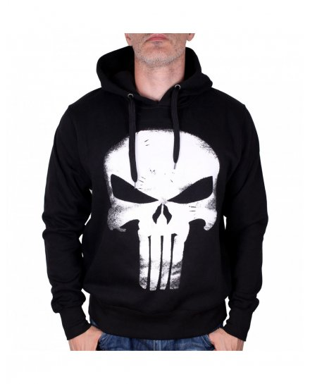 Sweat Punisher Skull effet cuir