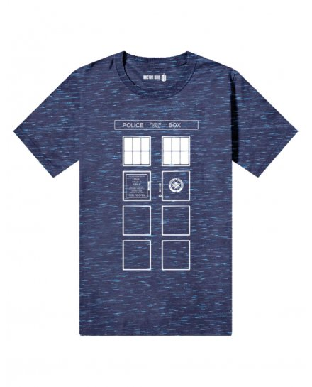 T-shirt Doctor Who - Tardis All Over