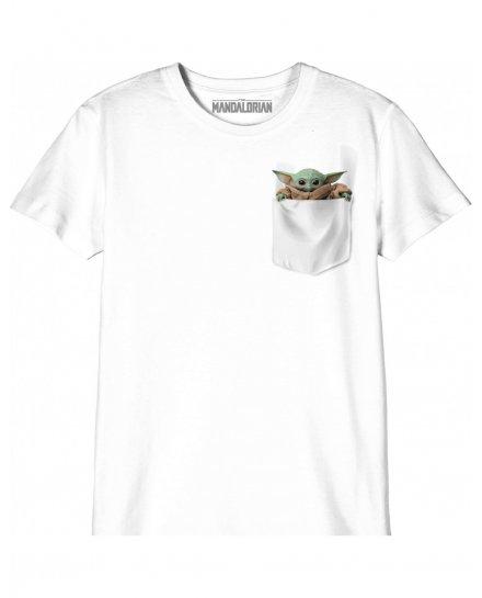 T-shirt Enfant Star Wars The Mandalorian - Baby Yoda Pocket