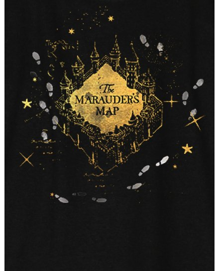 T-shirt Femme Harry Potter - The Marauder's Map