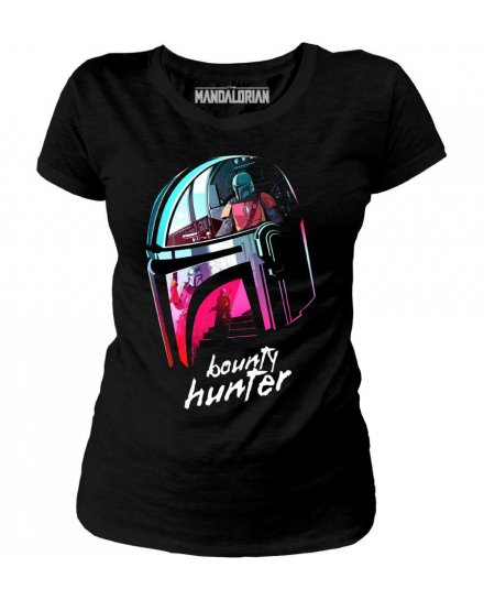 T-shirt Star Wars Bounty Hunter femme