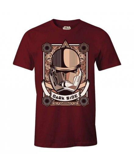 T-shirt Star Wars Dark Side bordeaux