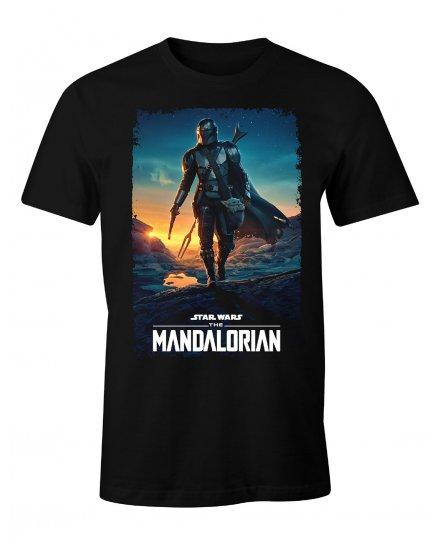 T-shirt Star Wars Mandalorian Poster saison2