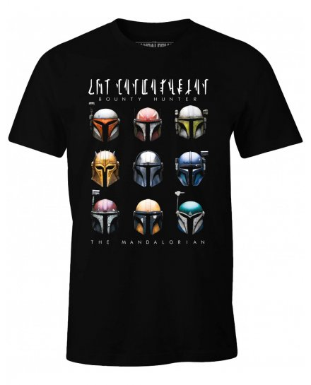 T-shirt Star Wars The Mandalorian - Bounty Hunter Helmets