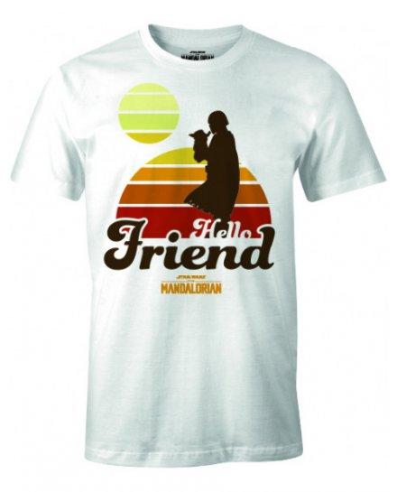 T-shirt Star Wars The Mandalorian - HELLO FRIEND SUNSET