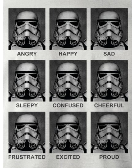 T-shirt Star Wars - Trooper Emotions