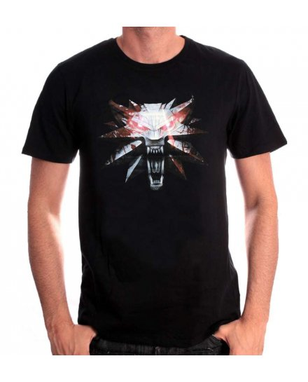 T-shirt The Witcher Wolf Medaillon