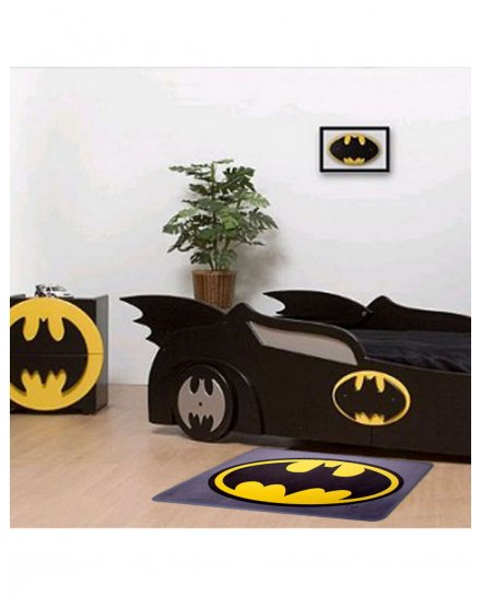 Tapis Batman Logo gris jaune