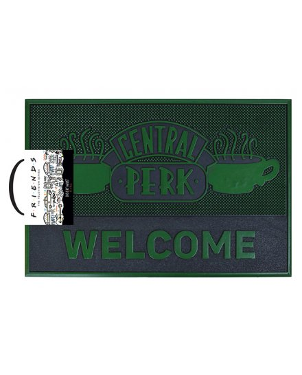 Tapis Friends vert et noir Central Perk Welcome