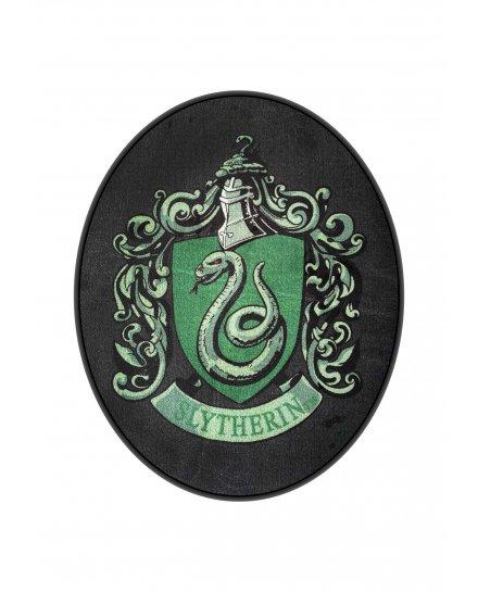 Tapis Harry Potter blason Serpentard ovale noir