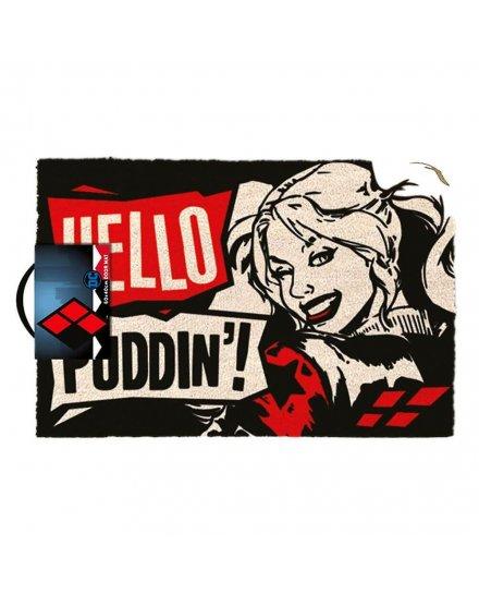 Tapis Paillasson Harley Quinn Hello Puddin