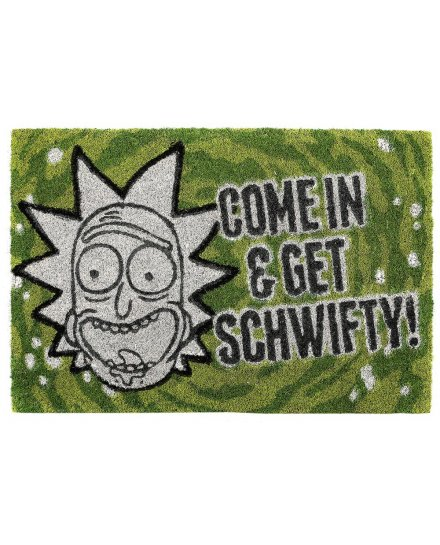 Tapis Paillasson Rick et Morty Come in & get schwifty