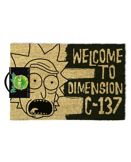 Tapis Paillasson Rick et Morty Welcome to dimension C137