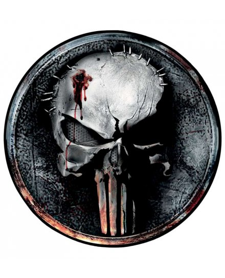 Tapis Punisher Skull rond
