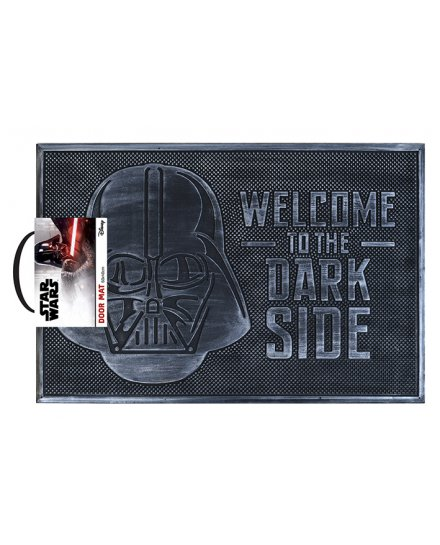 Tapis Star Wars Caoutchouc Welcome To The Dark Side gris