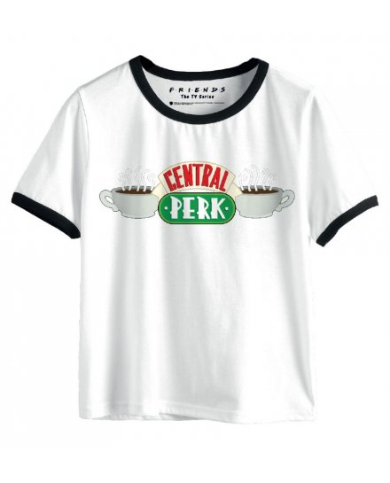 Tee-Shirt Friends Femme Central Perk Blanc