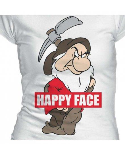 Tee-Shirt Happy Face Blanche Neige Disney