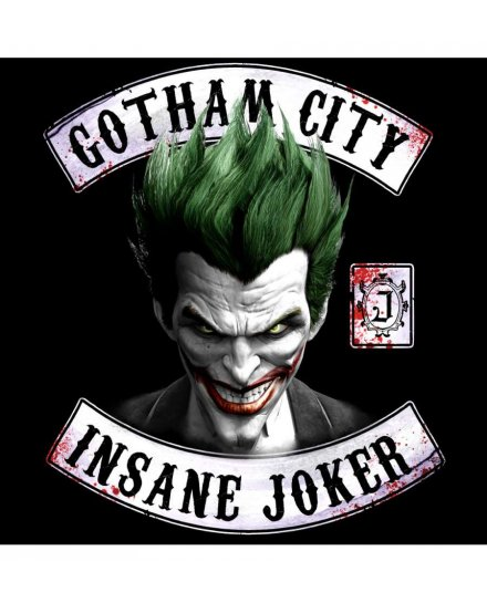 Tee Shirt Joker DC Comics Insane Joker