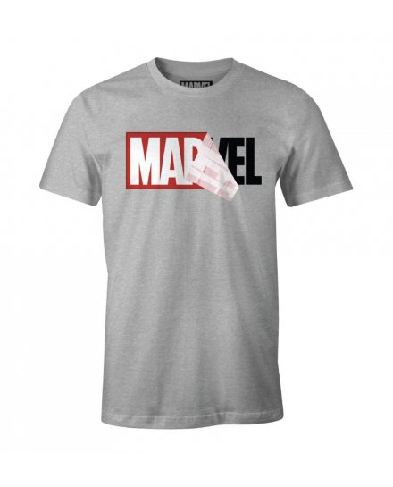Tee-Shirt Marvel gris Logo mania