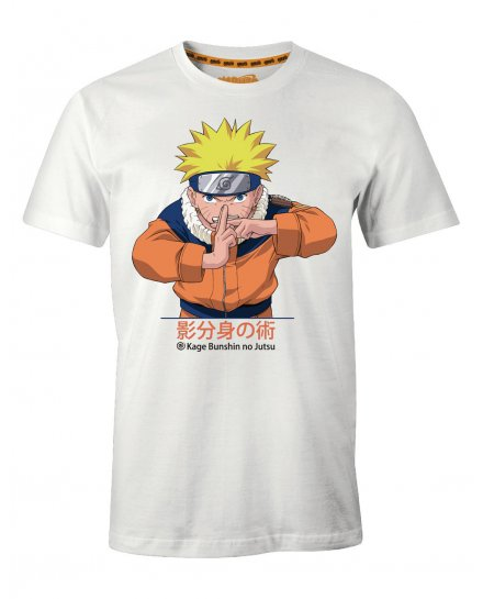 Tee-Shirt Naruto blanc multiclonage