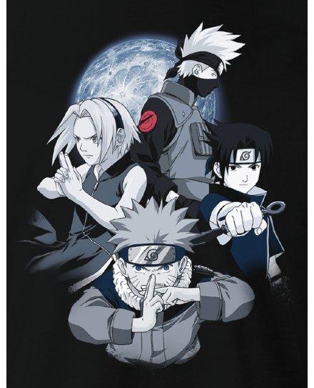 Tee-Shirt Naruto noir Team