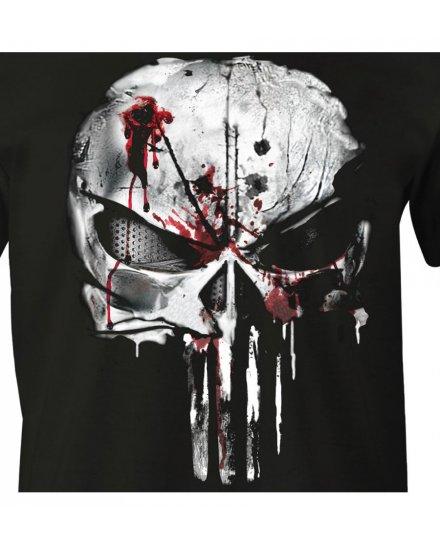 Tee-Shirt Punisher Noir bloody skull