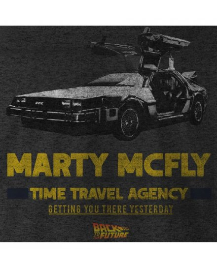 Tee-Shirt Retour vers le futur Marty Mcfly Time Travel Agency