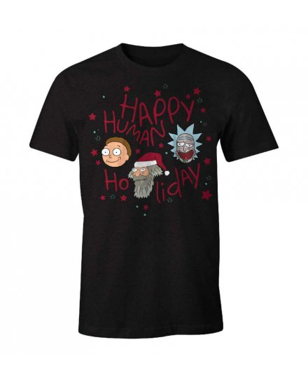 Tee-Shirt Rick et Morty Happy Human Holiday