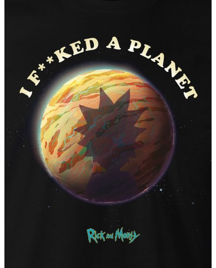 Tee-Shirt Rick et Morty I fucked a planet
