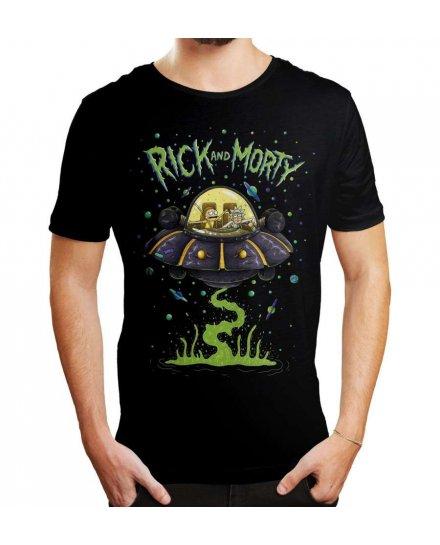 Tee-Shirt Rick et Morty Soucoupe