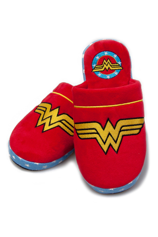 Wonder Woman Chaussons Adulte Bordeaux et dor/és Pause Canap