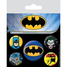 Pack de 5 badges Batman