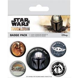 Pack de 5 badges Star Wars Mandalorian