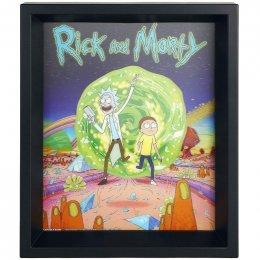 Cadre Rick et Morty Portail 3D