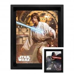 Cadre Star Wars Vador VS Skywalker 3D