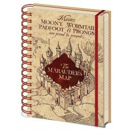 Carnet Bloc Notes A5 Carte du Marauder Harry Potter