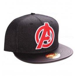 Casquette Avengers gris noir et logo rouge