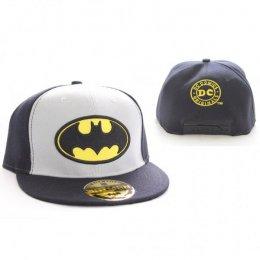 Casquette Grise et Noire Logo Batman