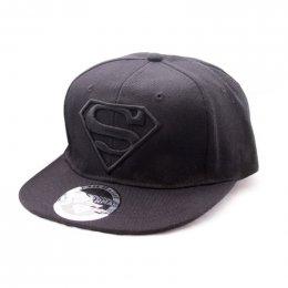Casquette Noire Classic Logo Noir Superman