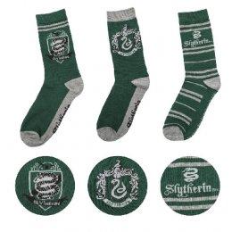 Lot 3 paires de chaussettes Serpentard Harry Potter
