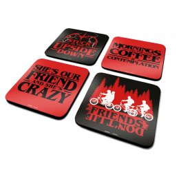 Lot de 4 Sous-Verre Stranger Things Citations
